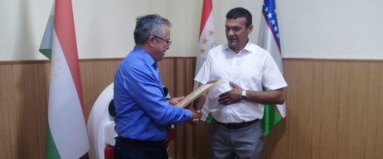 Вручение сертификата новому субъекту СЭЗ «Сугд»  ООО «Сугдиёна Агро»